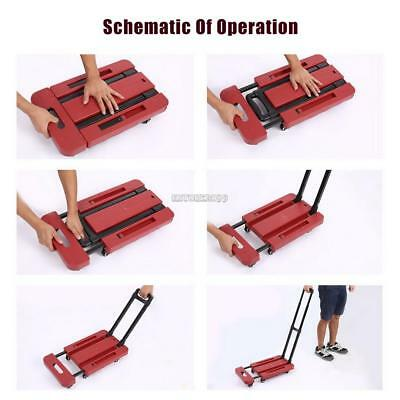 Cart Dolly Push Truck Hand Collapsible Trolley Luggage 200Kg Holder US STOCK