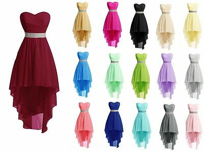 New Short Prom Dresses Chiffon Bridesmaid Formal Wedding Evening Party Gown 6-22