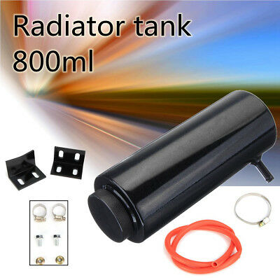 Alloy 800ml Cylinder Radiator Overflow Reservoir Coolant Tank Universal Can NEW