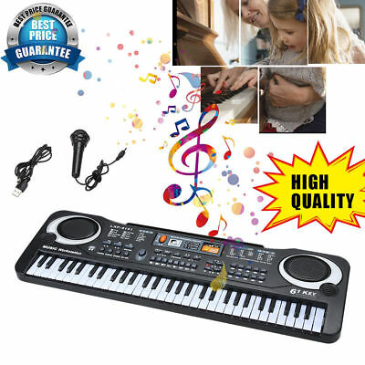61 Keys Music Electronic Keyboard Kid Electric Piano Organ Microphone & Adapter