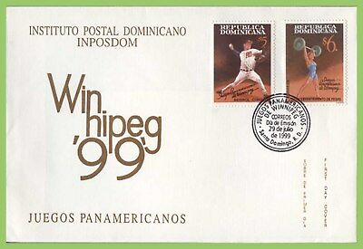 Dominican Republic 1999 13th Pan-American Games  set on First Day Cover