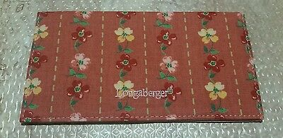 New Floral Longaberger Checkbook Cover