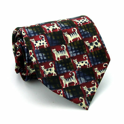 Dunhill 100% Silk Blue/Red Classic Fit 100% Silk Tie