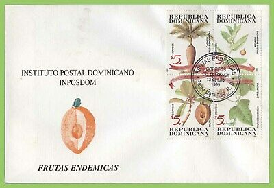 Dominican Republic 1999 Flowers and their Fruit set on First Day Cover