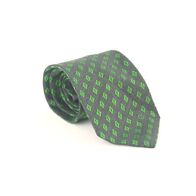 Dunhill 100% Silk Blue Green Triangle Design Wide Fit Men's Tie