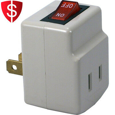 Power Switch Adapter Single Port Indoor Indicator Light Outlet Home White