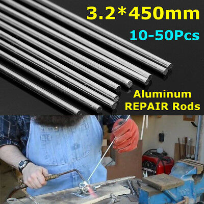 10/20/30/50x Aluminium Low Temperature Welding Soldering Brazing Rod 3.2*450mm