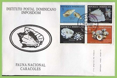 Dominican Republic 1998 Shells set on First Day Cover