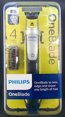 Philips Oneblade + 4 Stubble Combs One Blade To Trim Edge And Shave