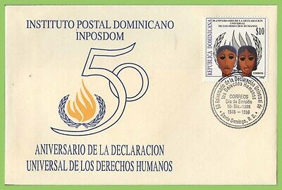Dominican Republic 1998 50th Anniv. of Human Rights Declaration First Day Cover