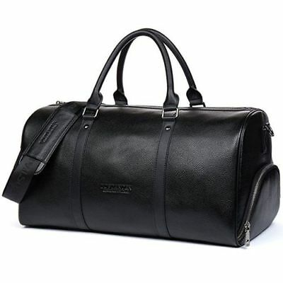 New Outdoor Sports Gym Leather Duffel Bag Weekender Luggage For Men Women AA9