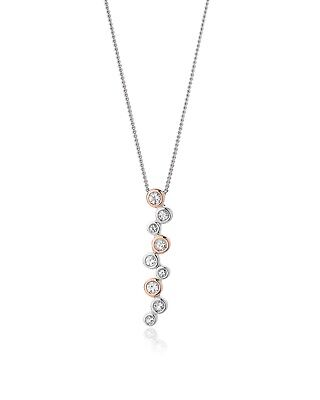 "NEW Official Clogau Silver & Rose Gold Celebration Pendant (18"") £40 off!"