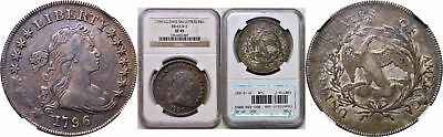 1796 Bust Dollar NGC XF-45 Large Date, Small Letters BB-65, B-5