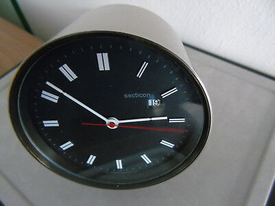 Angelo MANGIAROTTI - DESIGN - SECTICON Tischuhr/Table Clock  60ziger - selten !!