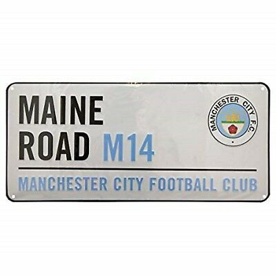 Official Manchester City Football Club  Street Sign MAINE ROAD  Ideal Gift