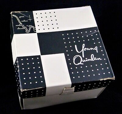 """Vintage YOUNG QUINLAN Hat Box 10""""x10""""x7"""" Minneapolis St. Paul Locations on Cover"""