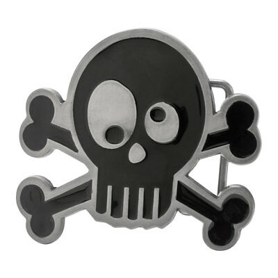 Silly Skull and Crossbones Funny Belt Buckle