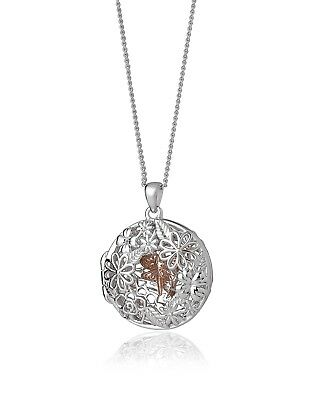 "NEW Official Welsh Clogau Silver & Rose Gold Damselfly Locket (18"") £50 off!"