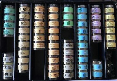 Case of 63 PARTYLITE STACKERS - No Duplicates - Rare Zodiac Sample Kit Included