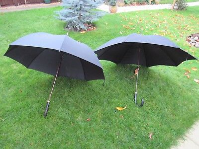 2 Vintage Fox Gents Black Umbrella's P.W. 12ct Rolled Gold Plated Collar