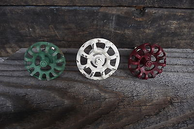 Vintage Style WATER FAUCET DRAWER PULLS KNOBS ~ Distressed Red ~ White ~ Green