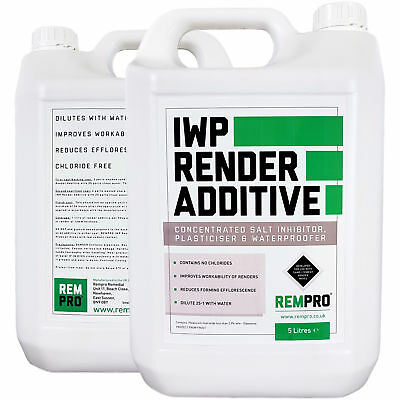 Rempro 5Ltr Render Additive Mix for DPC Damp Proofing Sand Cement Waterproofer