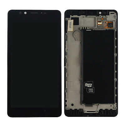 Black For Nokia Lumia 950 LCD Screen Touch Digitizer Display Assembly Frame+Tool