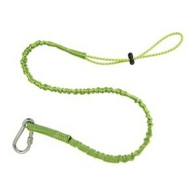 New Ergodyne Squids 3101 Stainless Single Carabiner - 15lb Cap. Lime Tool Tether