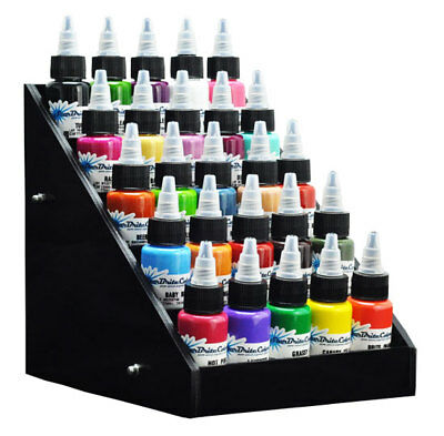 Black Acrylic Tattoo Ink Small Display Stand 5-tier Rack Organizer Table Counter
