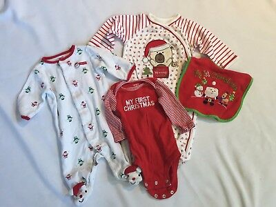 Christmas Baby 3 month outfit bib onsie pjs first christmas boy girl