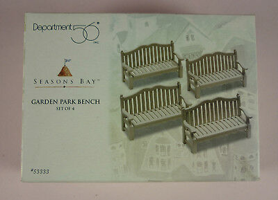 """Seasons Bay """"garden Park Bench"""" Set Of 4 Never Removed From Box - Dept. 56"""