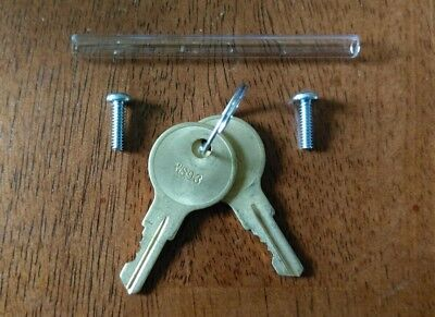 2 Potter pull station keys, (WS93), and glass rod.