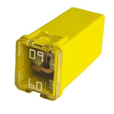 Pack of  5 LITTELFUSE 0495060 - JCAS60 JCASE FUSE RATED 495 32V 60A YELLOW