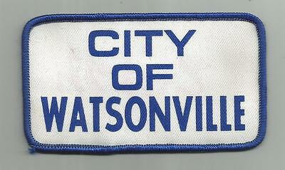 Vintage City Of Watsonville Ca Patch Fire Police 4 1/2 Inches Wide