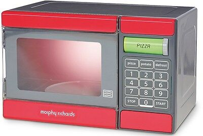 Casdon MORPHY RICHARDS ELECTRONIC MICROWAVE Kitchen Role Play Pretend Toy - BN