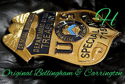j6/ Historisches police badge + Dept of the Treasury - Special Agent IRS / hallm