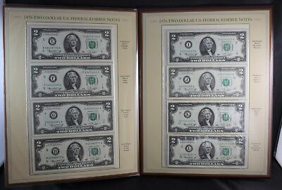 1976 Complete Collection of Two Dollar Bills Postal Commemorative Society Folio