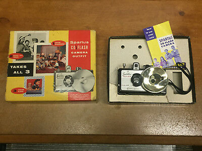 Vintage Spartus Co-Flash Camera, Box And Manual Herold Products U.s.a.