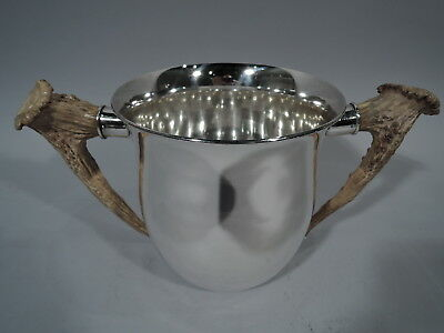 Gorham Trophy Cup w/ Horn Handles - B10 - Antique - American Sterling Silver