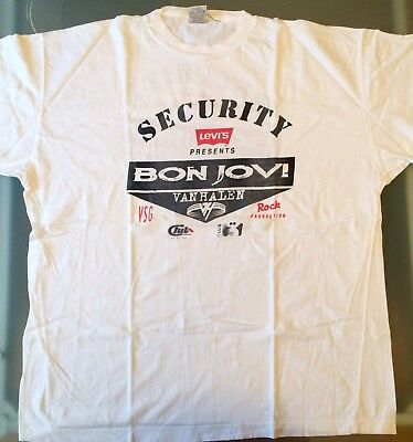 T-Shirt Security Bon Jovi Tour Crossroad 11. Juni 1995 Vorgruppe Van Halen