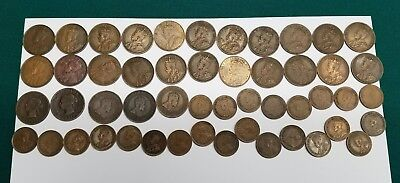 27 Canadian large Cent Penny lot including 24 King George V small cents