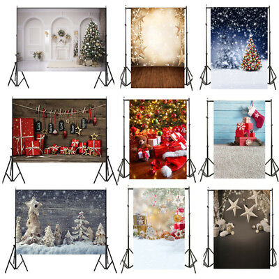 Backdrops 5x7ft 3x5ft 10ftx10ft Xmas snowman Bells blue Photography Backgrounds
