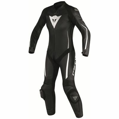 Dainese Assen Womens Perforated 1-Piece Leather Race Suit Black/Black/White