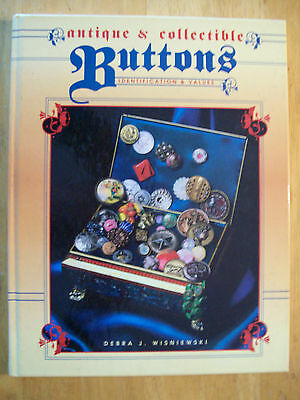 VINTAGE BUTTONS PRICE GUIDE COLLECTORS BOOK Hardback Color Picture's All types