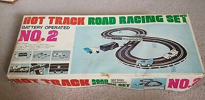 Vintage hot track road racing set No2 battery operated