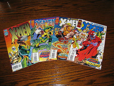 Marvel - ASTONISHING X-MEN 1 - 4 Complete!!  VF 1995 Age Apocalypse!