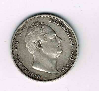 1834 William IV sterling silver sixpence 6d coin - 2.8g