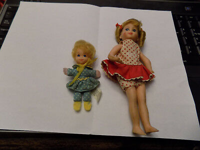 Lot 1967 Vtg ORIGINAL BUFFY & MRS. BEASLEY Doll SET~Excellent Face Curly Hair