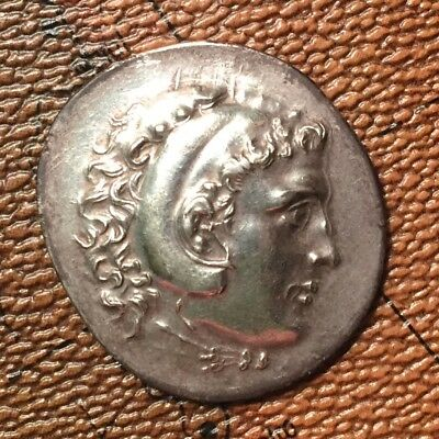 AU/MS Alexander the Great Silver Tetradrachm 35mm Huge Rare Type PQ+ Luster