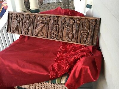 Old World Mantle or Wall Plaque Gothic Renaissance Unusual Rare & Unique! LOOK!